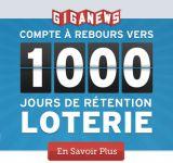Jeu concours Giganews pour les 1000 jours de rétention!