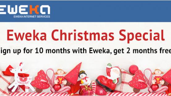 2 mois gratuits chez Eweka pour Noël!
