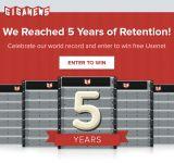 Gagnez un abonnement Giganews Diamond pour les 5 ans de rétention!